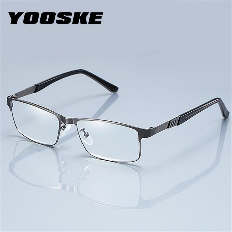 YOOSKE occhiali da lettura per uomo d'affari in acciaio inossidabile per lettore occhiali da vista presbiti da uomo 1.0 1.5 2.0 2.5 3 3.5 4.0 2
