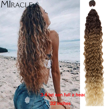 Synthetic Hair Water Wave Hair Blondes Brown Bundles With Hair Extensions Synthetic Hair Curly Weave Bundles For Women Miracle 24 9 hair holder drawing mat for use with the application of hair extensions drawing card skin pad with needles