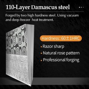 Image 3 - 2020 XINZUO 270mm יפני סושי סכין 110 שכבות דמשק פלדה Sakimaru מטבח סכיני גבוהה פחמן פלדה עם עור נדן