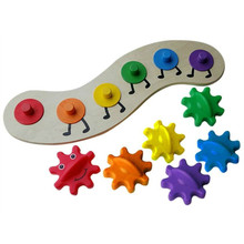 Wooden Puzzle Assembling Caterpillar Plastic Combination Gear Rotation Funny Gadgets Novelty Interesting Toys For Children Gift
