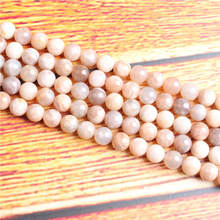 Natural Sun Stone Natural Stone Bead Round Loose Spaced Beads 15 Inch Strand 4/6/8 / 10mm For Jewelry Making DIY Bracelet