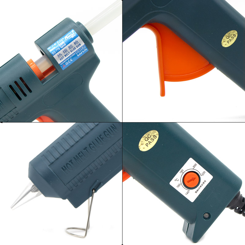 Image 3 - 150W Long Copper Nozzle Hot Melt Glue Gun Adjustable Temperature for 11mm Glue Sticks Professional Indusrial Adhesive Glue Gun-in Glue Guns from Tools on