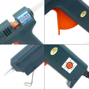 Image 3 - Boquilla de pistola de pegamento de fusión en caliente, larga de cobre de 150W, temperatura ajustable para barras de pegamento de 11mm, pistola de pegamento adhesiva industrial profesional