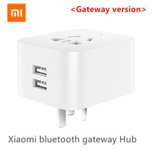 Xiaomi MIJIA podwójny USB inteligentny bluetooth brama inteligentne gniazdo wifi praca xiaomi inteligentny dom