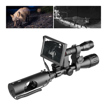 850nm widzenie nocne z wykorzystaniem podczerwieni zakres optyka Sight Tactical 492 ft 150 m laser IR urządzenie polowanie luneta kamera tanie i dobre opinie fire wolf Karabin FW54-YSY031 Przód i tył Lithium Ion 100m 5 0 inch 3 7V 18650 Lithium battery(not contain)