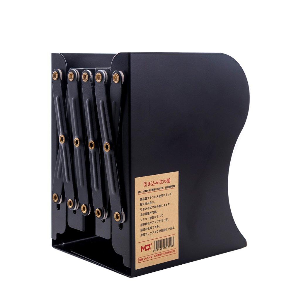 Non-Printing Wind Creative Telescopic Folding Book Stand Metal Look Bookshelf Office Cartoon Student Storage Stationery