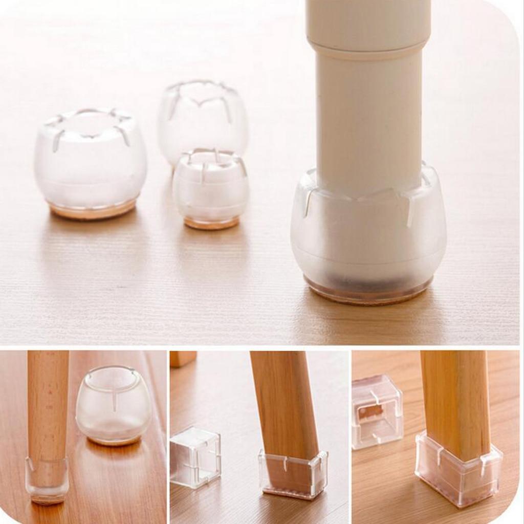 10 Pack Anti Slip Clear Rubber Chair
