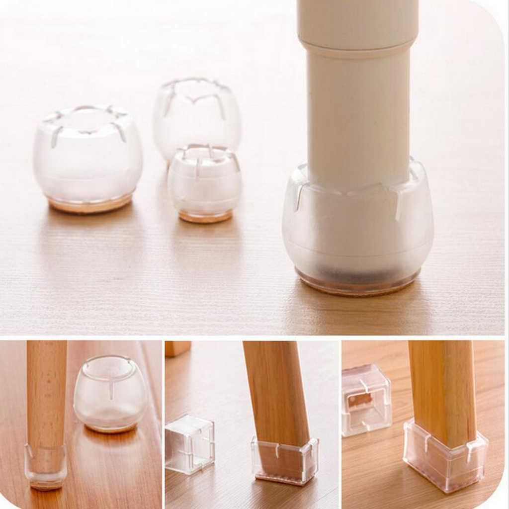 10 Pack Anti Slip Clear Rubber Chair Leg Floor Protectors Caps