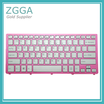 Laptop US Keyboard For SONY SVF14N Series Pink Frame Silver PN:149264011 With Backlit Win8 9Z.NABBQ.B01 SKBBQ 01 Black фото