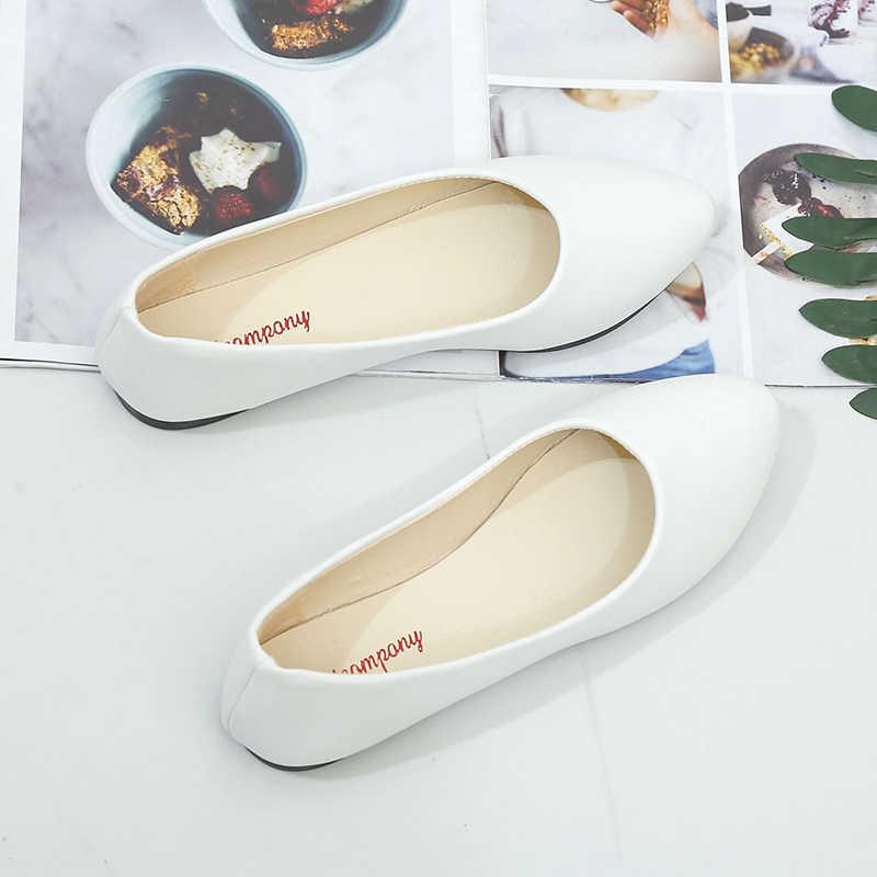 Frau Dame Casual Flock Wohnungen Schuhe Frauen Spitz Slip Auf Boot Schuhe Chaussures Femme Niedrigen Ferse Schuhe Sapato Feminino
