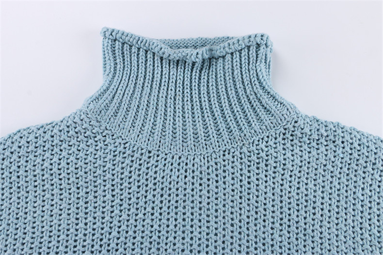 Forefair Oversize Turtleneck Knitted Sweater