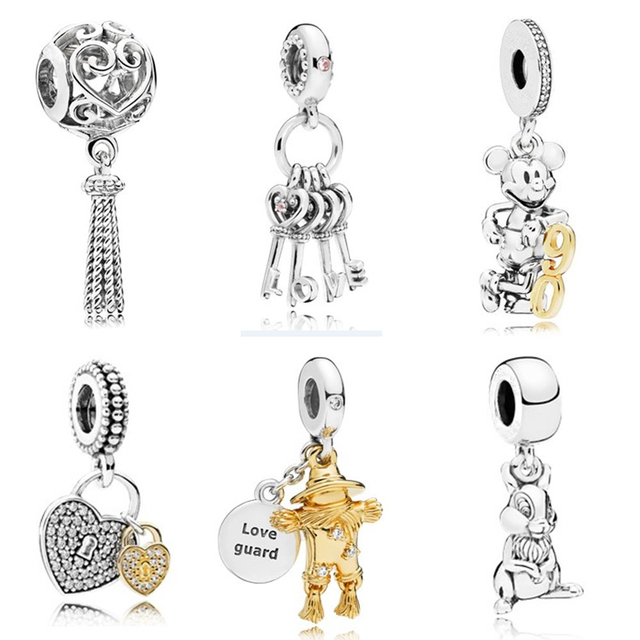 Fit European Pandora Charms Silver Color Gift Fashion Jewelry Pendant Elephant Fashion Trend Bracelet Bead Letter Dreamcatcher