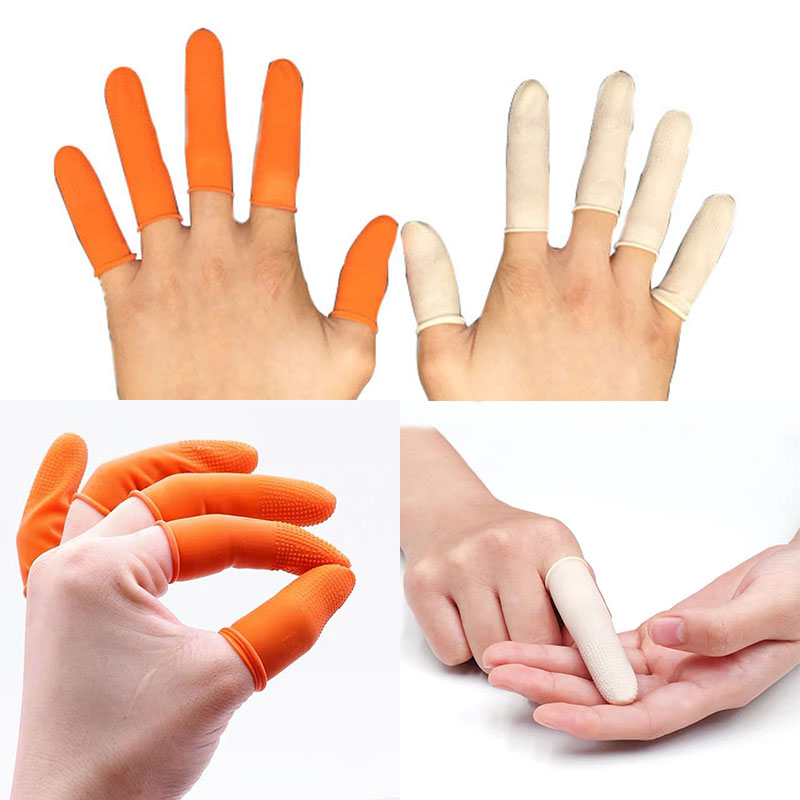 Latex Protective Antislip Fingertips Gloves Emulsion Finger Cots Antistatic Protector Gloves Watch Repair Tool For Watchmaker