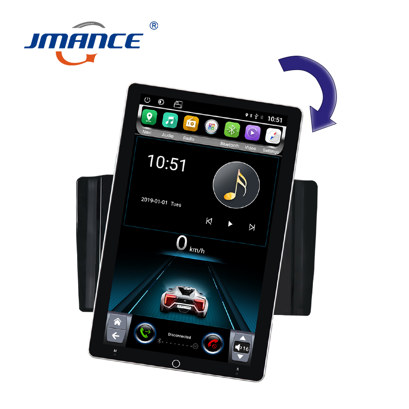 JMANCE 10.1inch Android Player Auto-rotate WIFI Car Multimedia Gps Bluetooth Navigation Stereo Tape Recorder Radio Head Unit image