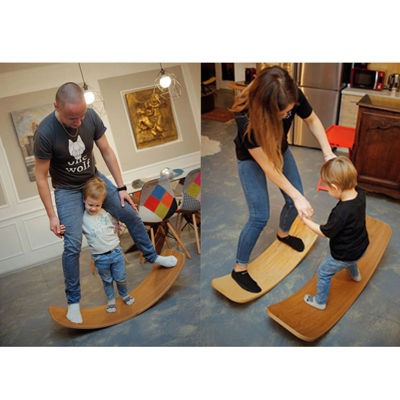 Child Seesaw Wooden Balance Board Children's Puzzle Sense Hand Foot Training Balance Twist Toys Yoga Workout Exercise Board