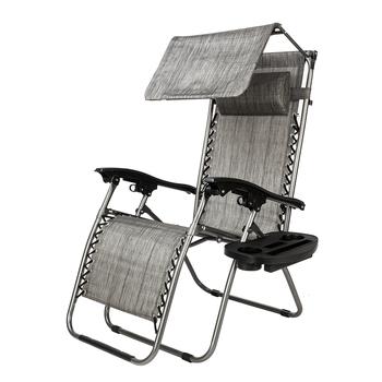 Dwukolorowy regulowany fotel wypoczynkowy leżak o zerowej grawitacji z markizą fotel wypoczynkowy tanie i dobre opinie Nowoczesne Meble do salonu 25 3 (L) x 5 3 (W) x 36 8 (H) 22299666 Minimalistyczny nowoczesny Szezlong Meble do domu Tkaniny