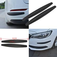2020 nova universal 2x textura de fibra de carbono anti-rub protetor de carro pára-choques borda guarda tira automóveis estilo exterior molduras