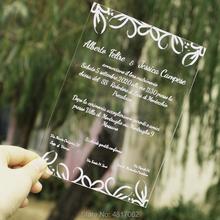 Przezroczyste zaproszenie akrylowe zaproszenie na lustro ślubne zaproszenie na chrzest zaproszenie na ślub tanie tanio Chrzest chrzciny Ślub i Zaręczyny Walentynki