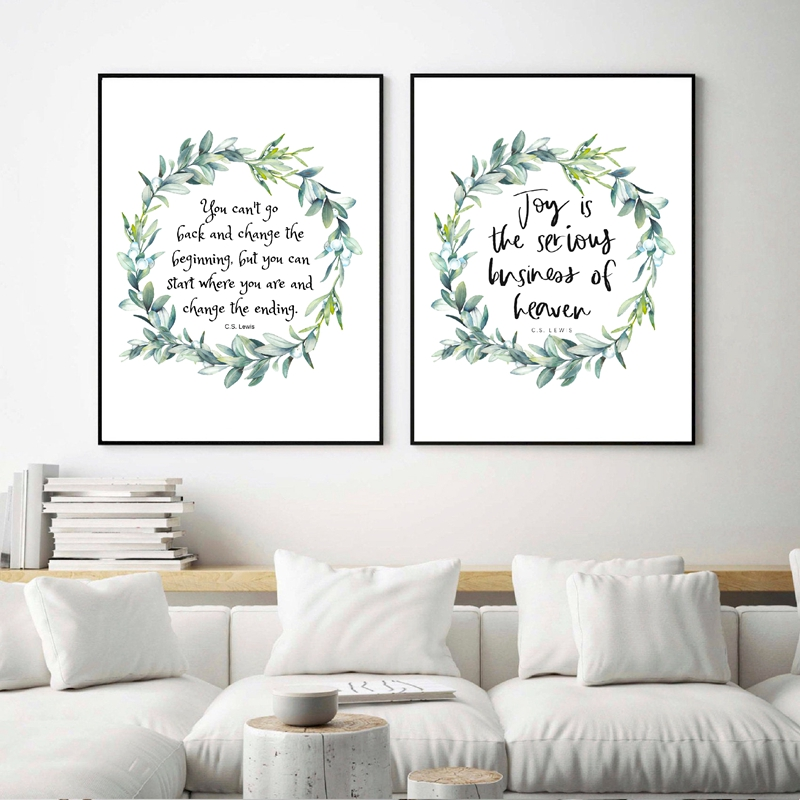 Change The End Quote Print Black /& Gold Wall Art Picture