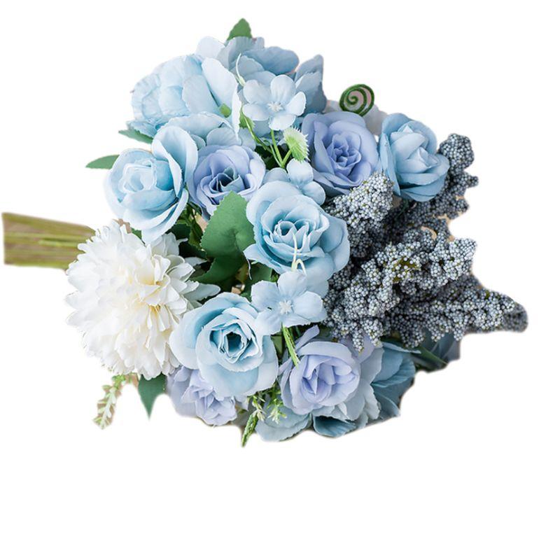 Ручной работы романтические искусственные цветы цветок с ягодами Моделирование Букет
