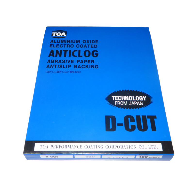 Thailand Toa Dry Sandpaper Blue Version D-CUT Latex Paper Soft And Durable Sharp Dandruff Anti-Blocking Furniture Play Grinding
