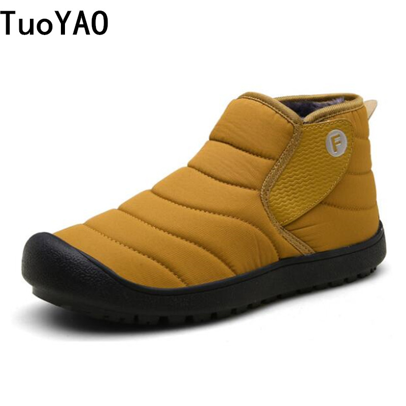 New 2019 Fashion Winter With Fur Snow Boots For Men Sneakers Male Shoes Adult Casual Quality Rubber Ankle Warm Boots