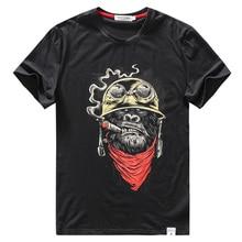 Bawełniana koszulka męska zabawna koszulka Streetwear hip hopowa moda małpa kreskówka 3D drukuj siłownia męska koszulka casual Top T Shirt duży rozmiar
