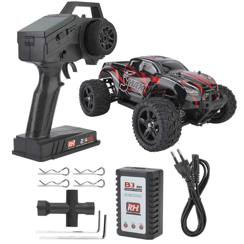 REMO 1635 1:16 2.4G 4WD Radio Control Car Waterproof Brushless Motor Off Road Monster Crawler RC Car Vehicle Red Models