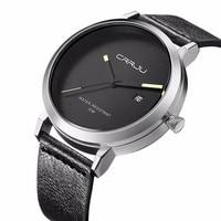 CRRJU gorąca sprzedaż mężczyźni zegarki męskie kwarcowy godzina data zegar mężczyzna skórzany zegarek sportowy Casual wojskowy zegarek na rękę Relogio Masculino
