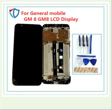 Black/White For General mobile GM 8 GM8 LCD Display +Touch Screen Digitizer Assembly Replacement Accessories For GM 8 LCD+Tools(China)