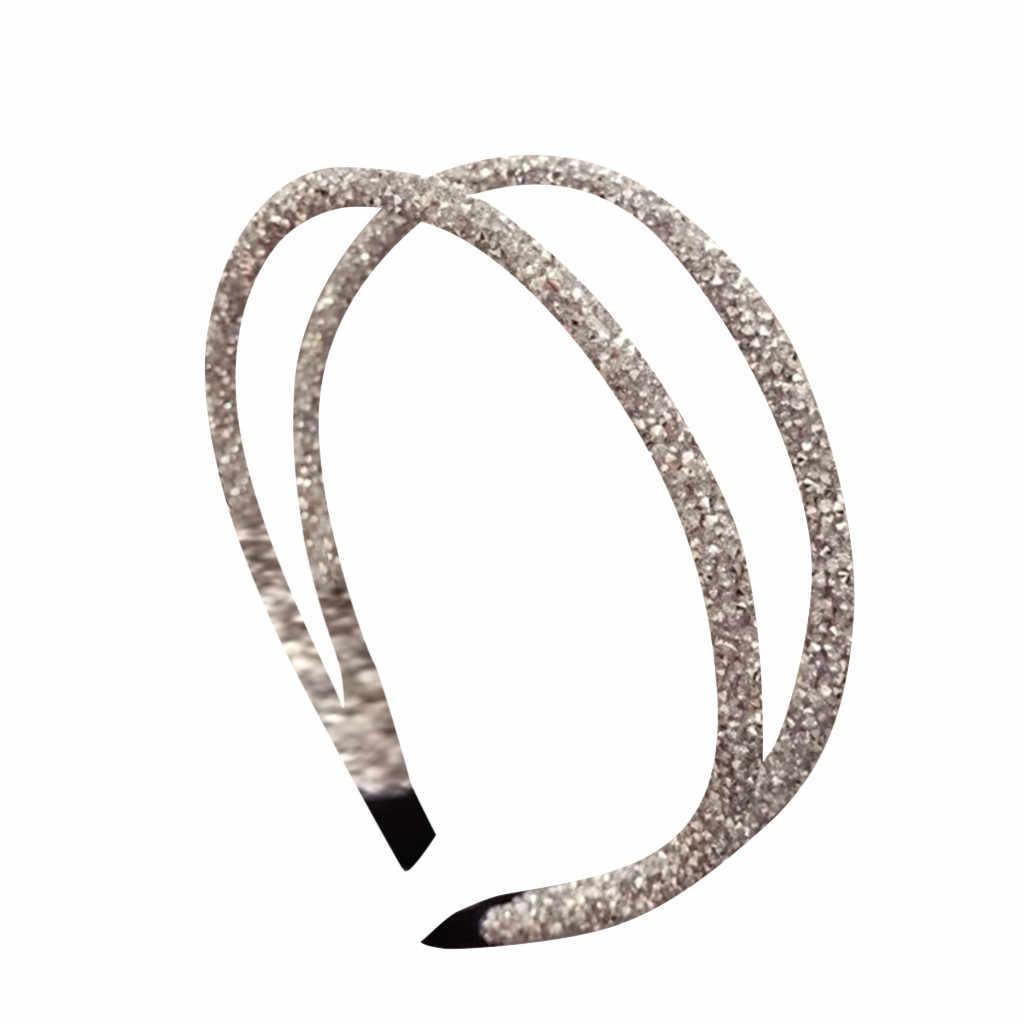 Hohl Kristall Strass Handgemachte Perle Stirnband Braut Hochzeit Haarband Zubehör bandeau cheveux femme adulte