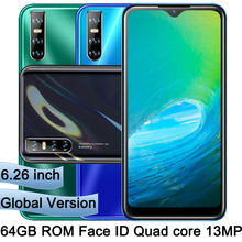 6.26'' Water Drop screen P30 Android 4G RAM 64G ROM Mobile Phones Smartphones Unlocked Original Face id Quad core celulars Phone