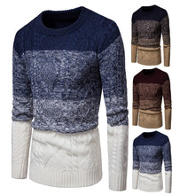 цена на Men's Casual Stripe Pullover Cotton Crew Neck Sweater Assorted Color Knitwear