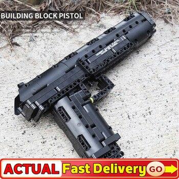 Modelo de armas MOC Gun The Benelli M4 Super 90, modelo automático de 14004 Uds. De 563, bloques de construcción, juguete DIY para niños, regalos de navidad