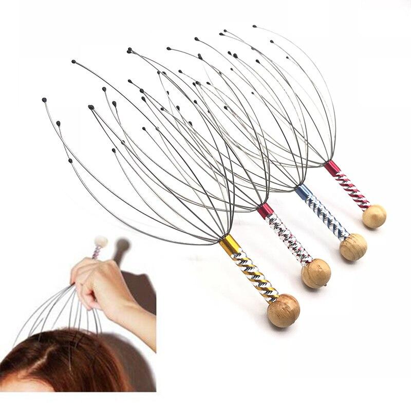 1Pcs Head Massager Neck Massage Octopus Scalp Stress Relax Spa Healing Alloy Massage & Relaxation Massage Relief Pain Head Care