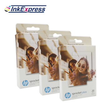 InkExpress 60 Sheets Photo Paper For HP Sprocket Plus Photo Printer Sticky Backed Glossy Photograph Paper For Photo Printing