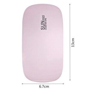 Image 5 - OSHIONER портативный мини 6 Вт Светодиодная лампа для сушки ногтей USB зарядка 30s 60s таймер светодиодный светильник Быстросохнущий гель для ногтей для маникюра