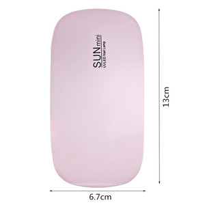 Image 5 - OSHIONER Portable Mini 6W LED Lamp Nail Dryer USB Charge 30s 60s Timer LED Light Quick Dry Nails Gel Manicure For Nail Art