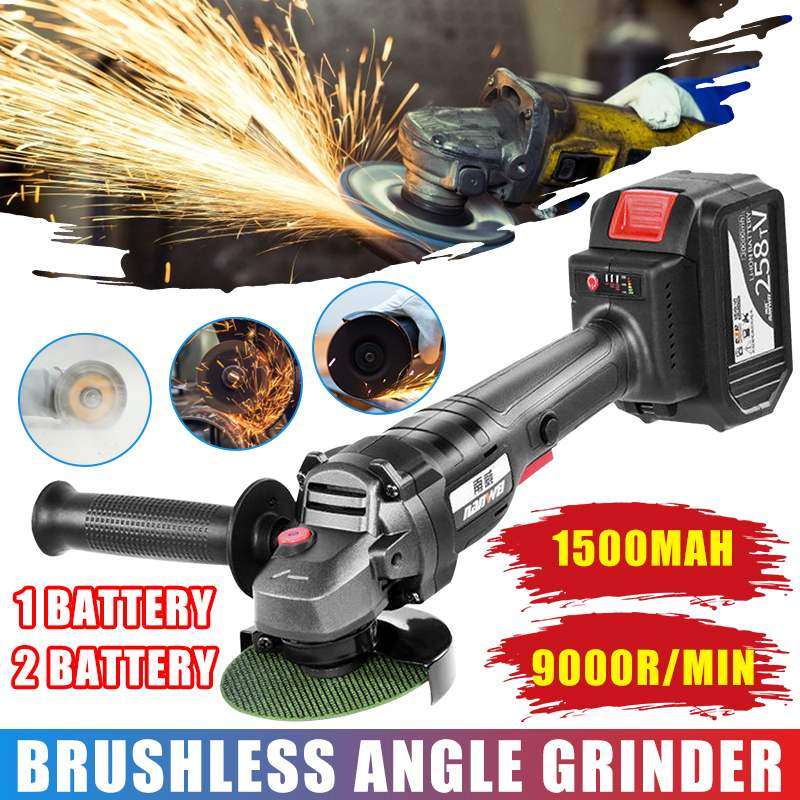 328TV 15000mah Brushless Electric Angle Grinder Cordless Polishing Grinder Power Tool Rechargeable For Metal Stone Wood Cutting