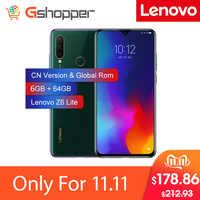 Rom mondial Lenovo Z6 Lite 6GB 64GB OTA Snapdragon 710 Octa Core téléphone portable 16MP Triple cames plein écran 4050mAh Smartphone