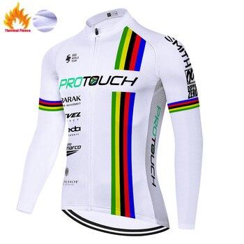 Protouch-maillot de ciclismo de invierno para hombre, camiseta de manga larga para...