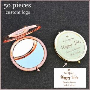 Индивидуальный заказ, розовое золото, зеркало для макияжа невесты, девичник, вечерние свадебные украшения, подарок подруге невесты