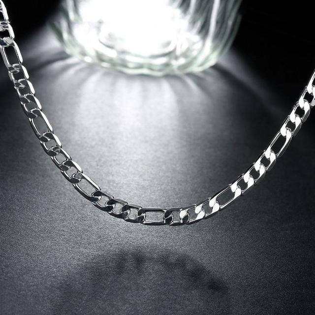 925 Silver Necklace Three Rooms One Ferrero Necklace Silver Chain Men&Women Silver Necklace Fashion Classic Jewelry 4MM 5