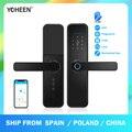 YOHEEN TTlock App Bluetooth Wi-Fi биометрический дверной замок со сканером отпечатков пальцев электронный цифровой смарт-замок работает с Alexa