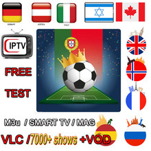 IPTV M3u TV BOX Subscription Brazil Italy UK German French Spanish Mediaset Premium For Android Box APK Smart TV PC VLC(China)