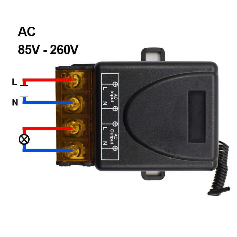 التيار المتناوب 220 فولت 30A 1CH RF 433 ميجا هرتز اللاسلكية التحكم عن بعد التبديل وحدة الاستقبال + 433 ميجا هرتز الارسال عدة للمنزل الذكي