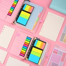 A5/A6 Macaron Color Leather Spiral Notebook Set Diary/week Planner/agenda Organizer Inner Page Ring Binder Stationery