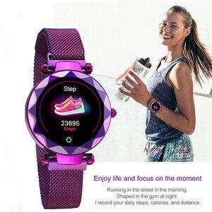 Image 4 - Lady HI18 Dress IP67 Waterproof Women Smart Bracelet Heart Rate Monitor Fitness Tracker Women Watch Wristwatch Band