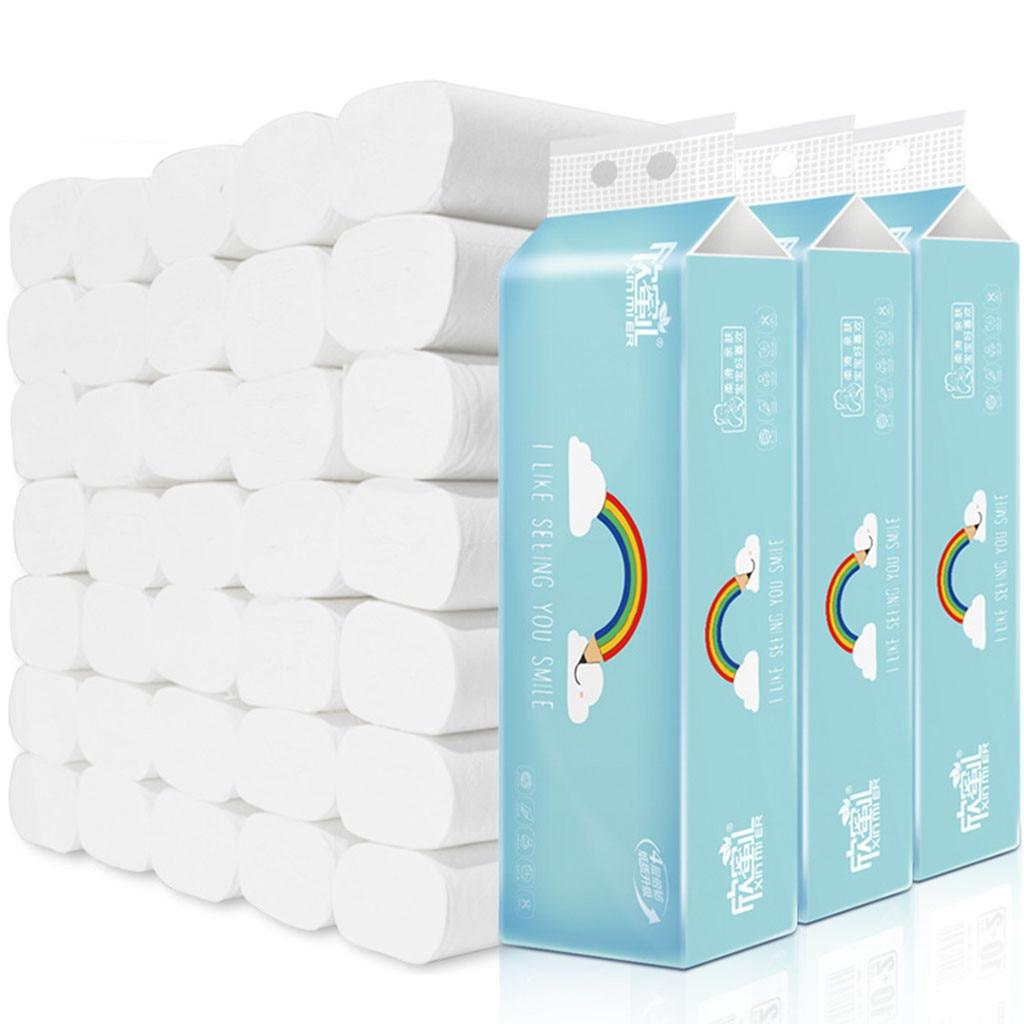 12pcs Four Layer Toilet Tissue Home Bath Toilet Roll Toilet Paper Soft Toilet Paper Skin-friendly Paper Towels New @3