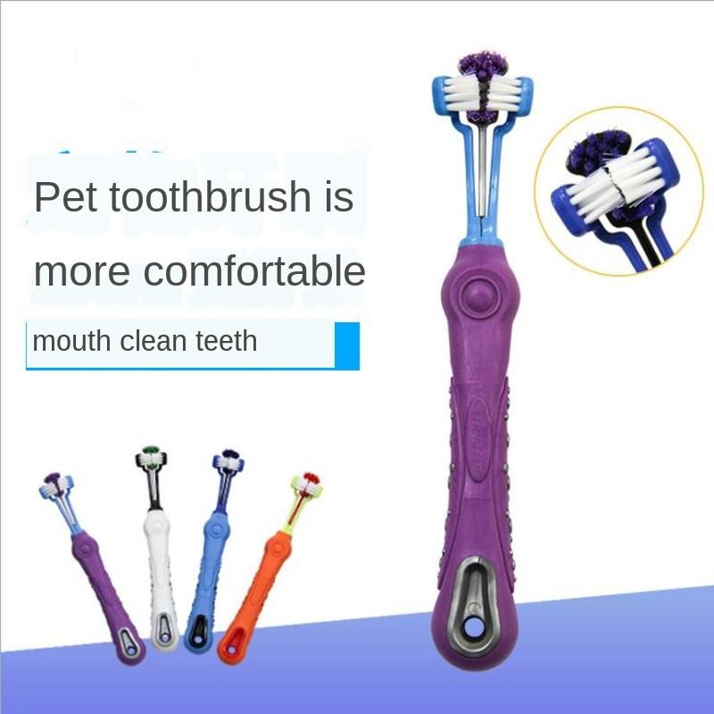 Купить двусторонняя зубная щетка для животных собак уход за зубами